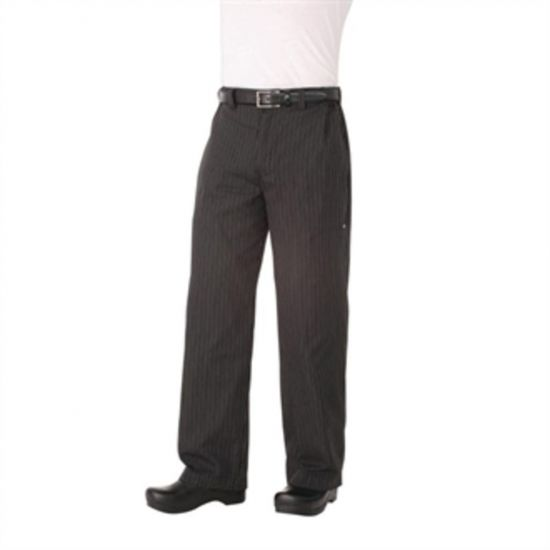 Chef Works Unisex Professional Series Chefs Trousers Grey Herringbone Stripe M URO A852-M