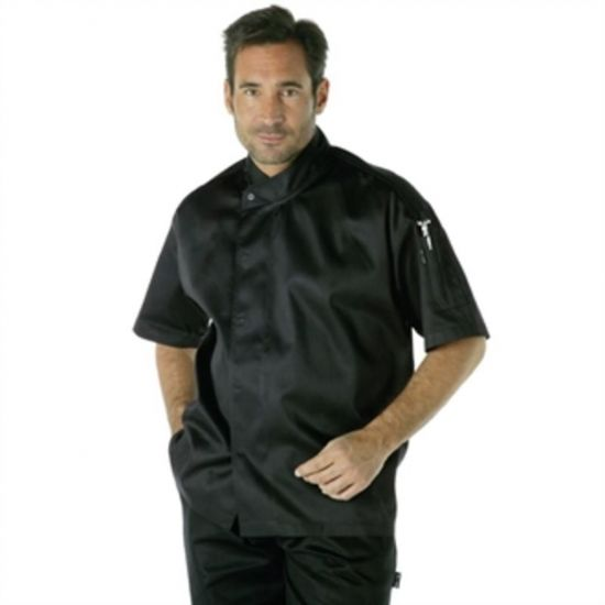 Chef Works Tours Cool Vent Executive Chefs Jacket Black S URO A858-S