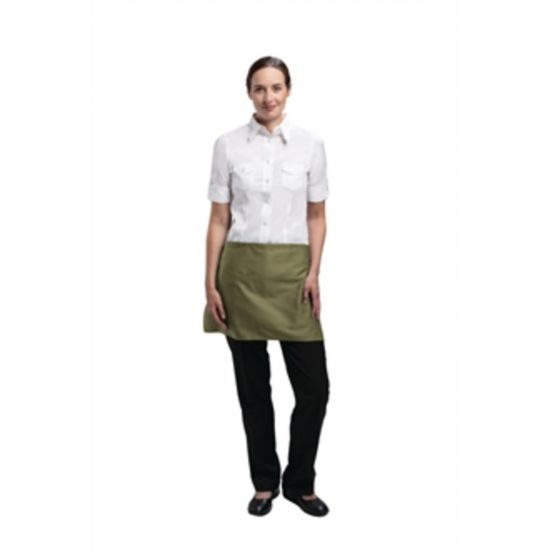 Uniform Works Short Bistro Apron Olive URO A903