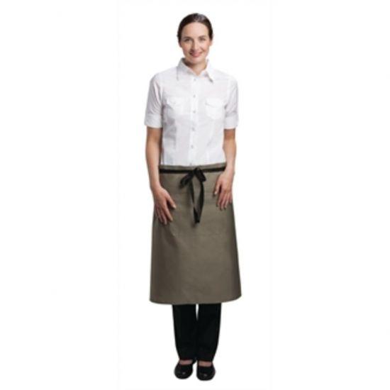 Uniform Works Regular Bistro Apron Olive URO A904
