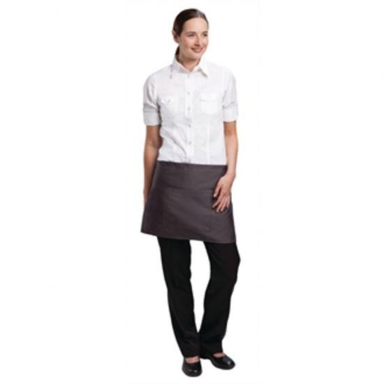 Uniform Works Short Bistro Apron Charcoal URO A906