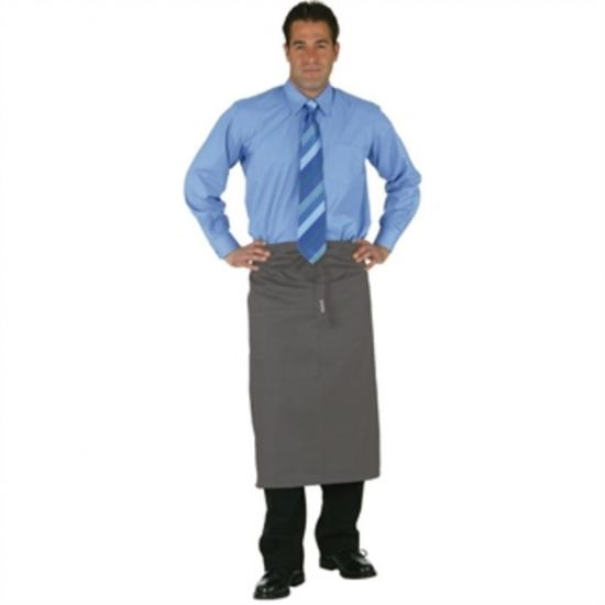 Uniform Works Regular Bistro Apron Charcoal URO A907