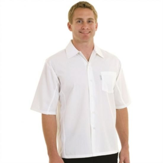 Chef Works Unisex Cool Vent Chefs Shirt White L URO A912-L