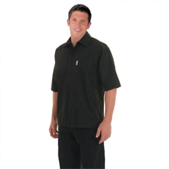Chef Works Unisex Cool Vent Chefs Shirt Black XS URO A913-XS
