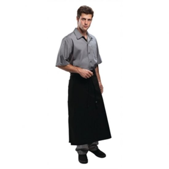 Chef Works Long Four Way Waist Apron Black URO A926