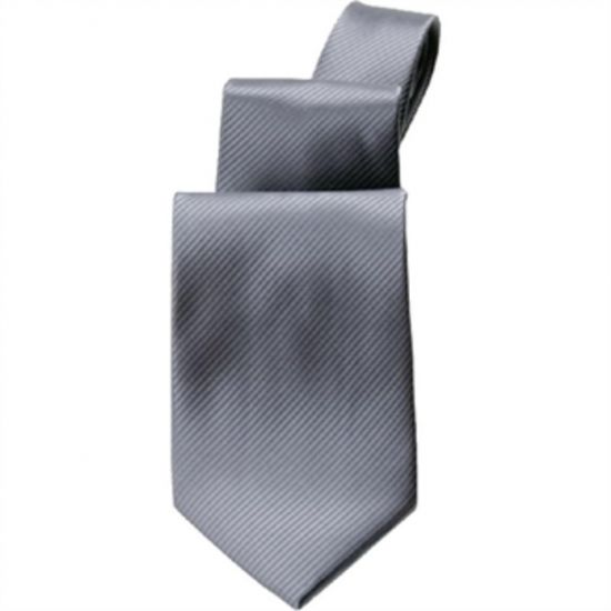 Uniform Works Plain Grey Tie URO A929