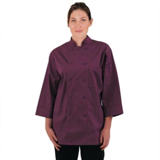 Colour By Chef Works Unisex Chefs Jacket Merlot 2XL URO A936-XXL
