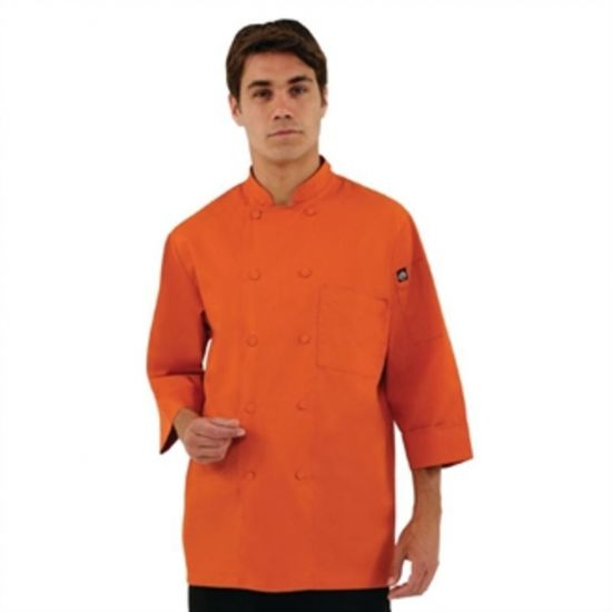 Colour By Chef Works Unisex Chefs Jacket Orange S URO A937-S