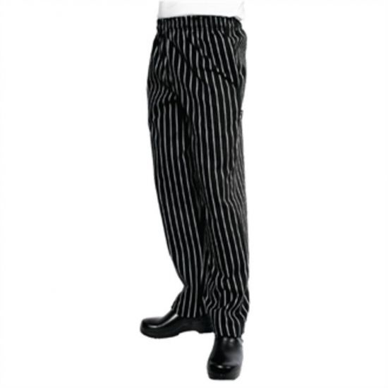 Chef Works Unisex Easyfit Chefs Trousers Black And White Striped XL URO A940-XL
