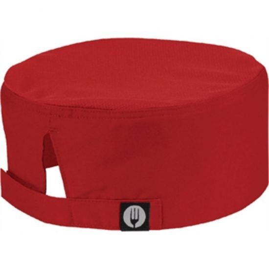 Colour By Chef Works Cool Vent Beanie Red URO A956