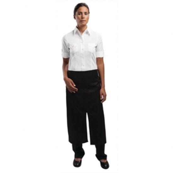 Uniform Works Bistro Apron Split Front Black URO A969
