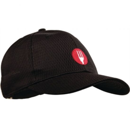 Chef Works Cool Vent Baseball Cap Black URO A976