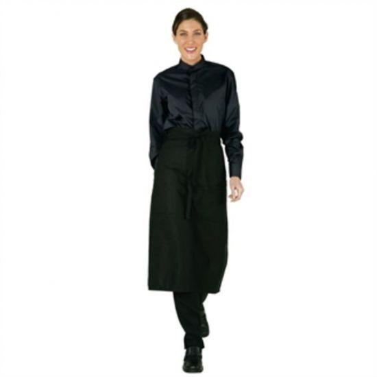 Uniform Works Womens Mandarin Shirt Black XL URO B024-XL