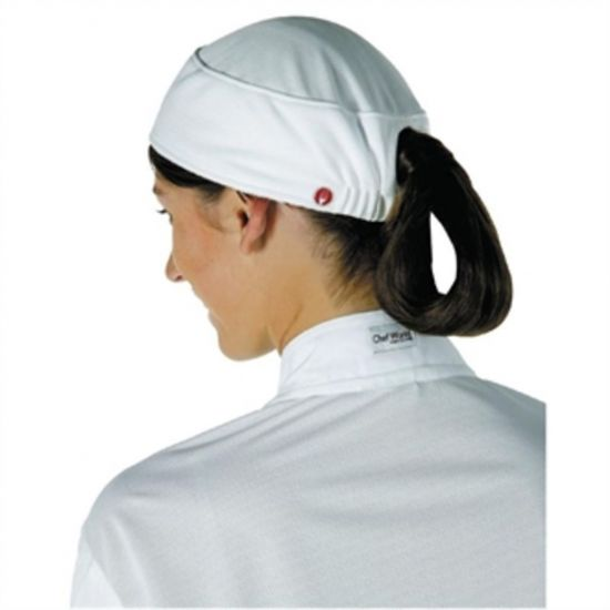 Chef Works Womens Total Vent Beanie White URO B052