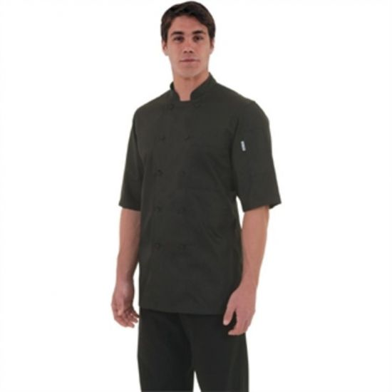 Chef Works Montreal Cool Vent Unisex Chefs Jacket Black S URO B054-S