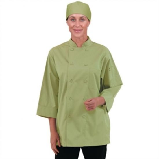 Colour By Chef Works Unisex Chefs Jacket Lime S URO B107-S