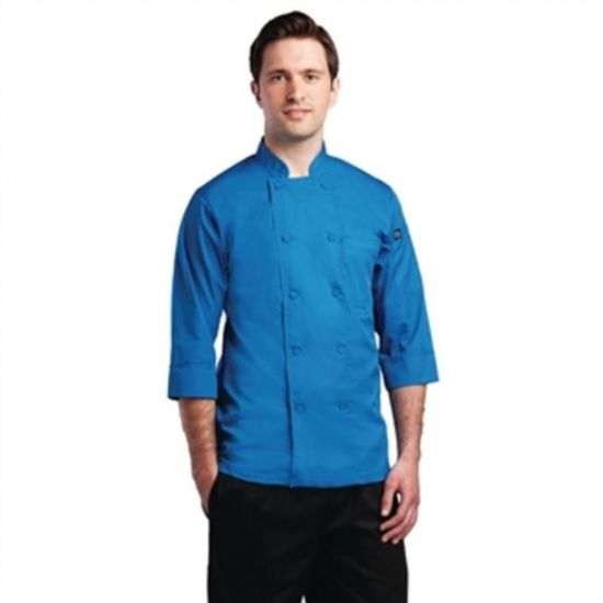 Colour By Chef Works Unisex Chefs Jacket Blue S URO B178-S