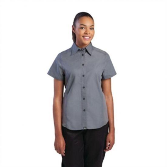 Chef Works Womens Grey Cool Vent Chef Shirt L URO B182-L