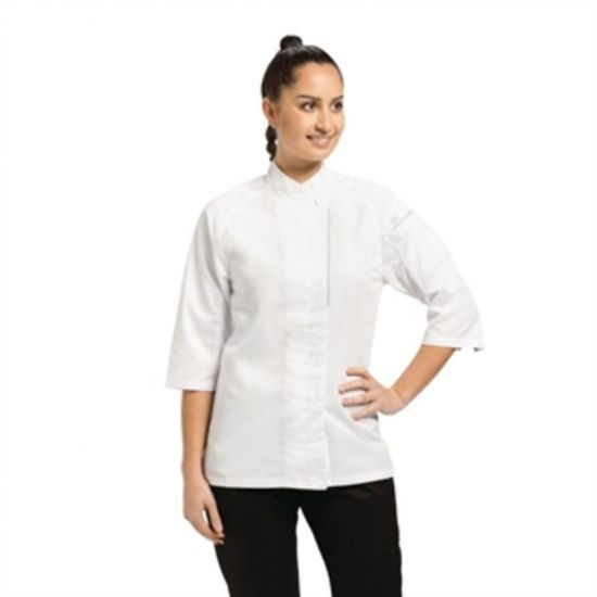Chef Works Cool Vent Verona Womens Chefs Jacket White XS URO B186-XS