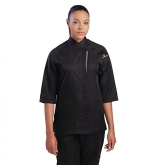 Chef Works Cool Vent Verona Womens Chefs Jacket Black XS URO B189-XS