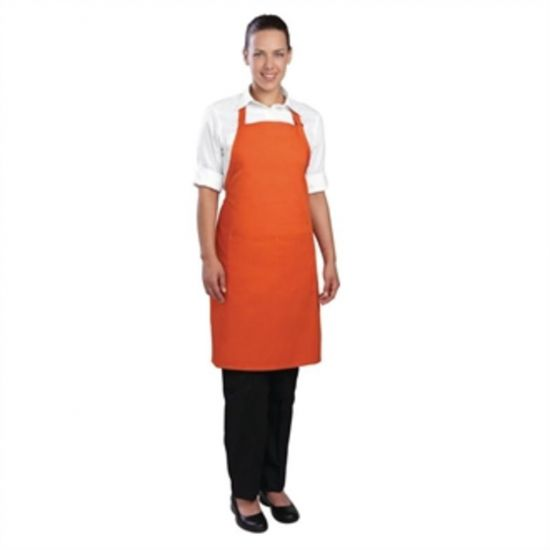 Colour By Chef Works Bib Apron Orange URO B195