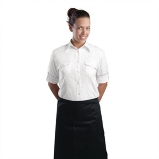 Uniform Works Womens Pilot Shirt White XL URO B214-XL