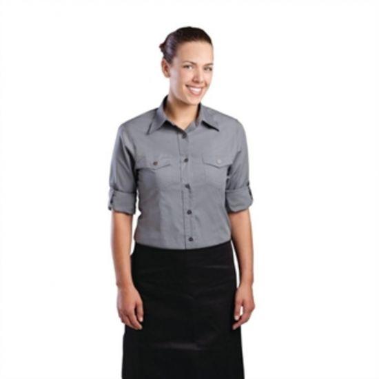 Uniform Works Womens Pilot Shirt Grey S URO B215-S