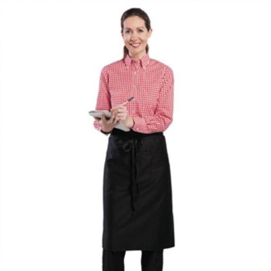 Uniform Works Womens Gingham Shirt Red M URO B216-M
