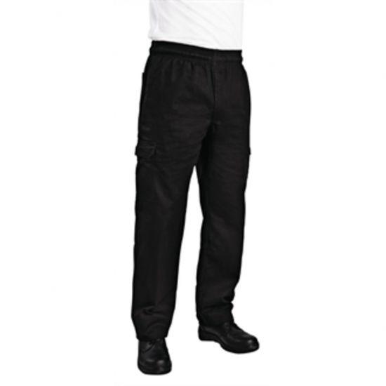 Chef Works Unisex Slim Fit Cargo Chefs Trousers Black M URO B222-M