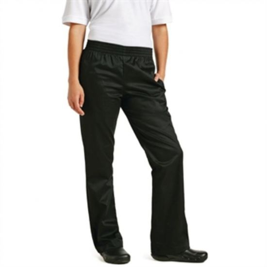 Chef Works Womens Basic Baggy Chefs Trousers Black L URO B223-L