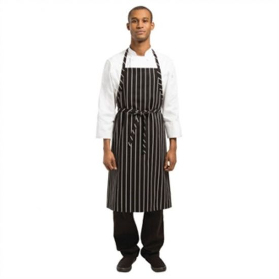 Chef Works Premium Woven Apron Black And White Stripe URO B248