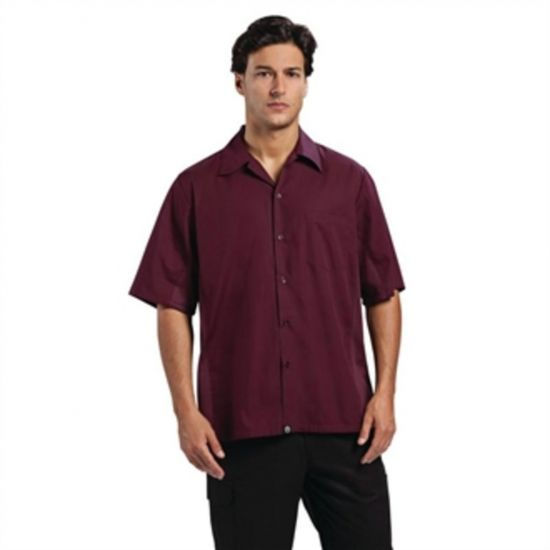 Chef Works Unisex Cool Vent Chef Shirt Merlot M URO B312-M