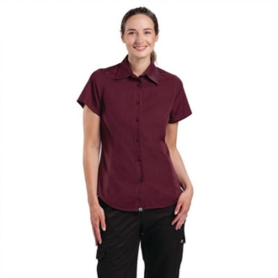 Chef Works Womens Cool Vent Chefs Shirt Merlot M URO B313-M