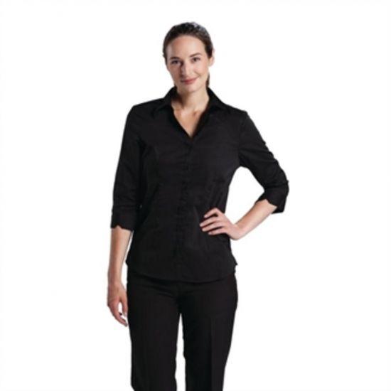 Uniform Works Womens Stretch Shirt Black XS URO B314-XS