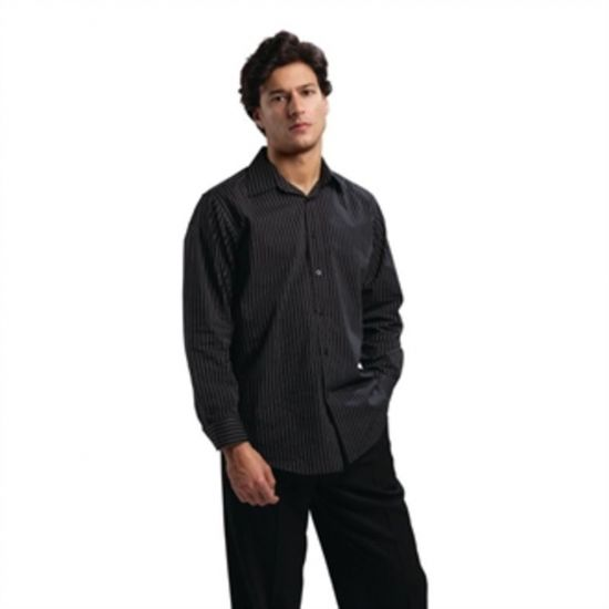 Uniform Works Long Sleeve Shirt Pinstripe L URO B315-L