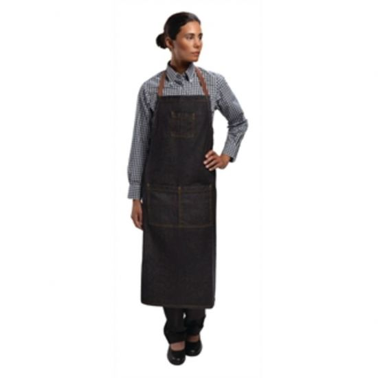 Chef Works Urban Memphis Bib Apron Black URO B340