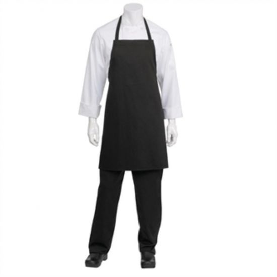Chef Works Basic Bib Apron Black URO B482