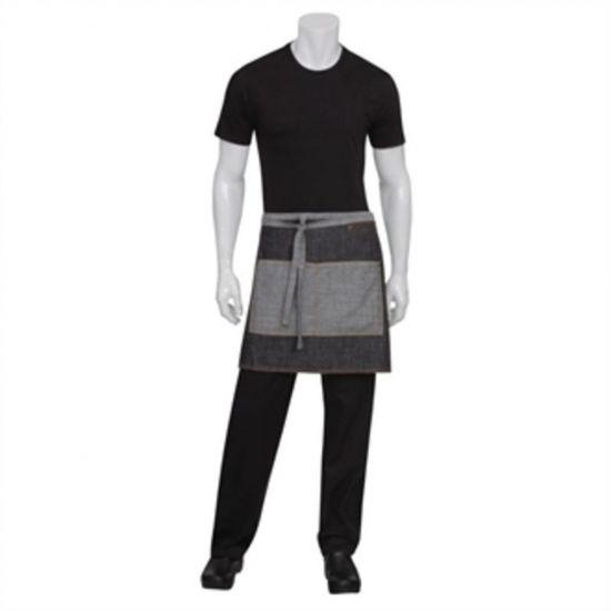 Chef Works Urban Manhattan Half Bistro Apron Black URO B584