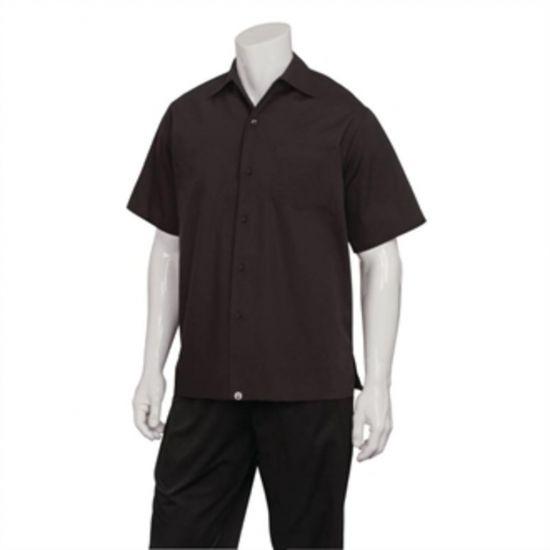 Chef Works Cafe Shirt Black L URO B621-L