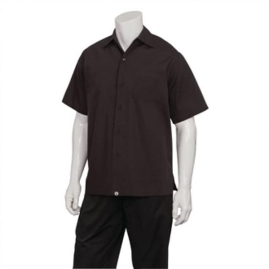 Chef Works Cafe Shirt Black M URO B621-M