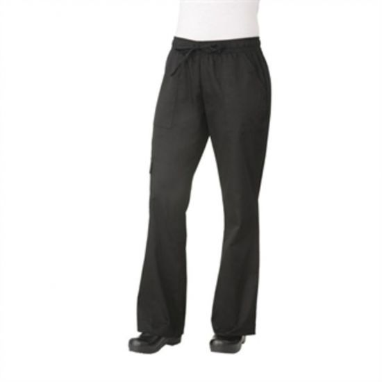 Chef Works Womens Cargo Chefs Trousers Black XS URO B630-XS