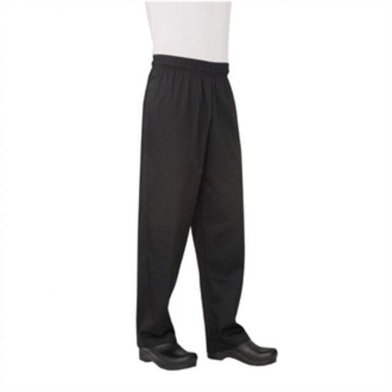 Chef Works Unisex Basic Baggy Chefs Trousers Black 2XL URO B697-XXL