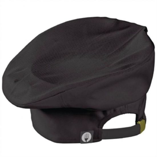 Chef Works Cool Vent Toque Black URO B728