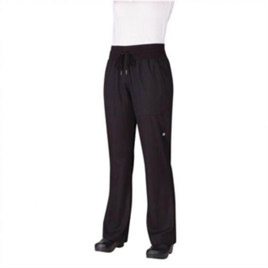 Chef Works Womens Comfi Chefs Trousers Black L URO B785-L