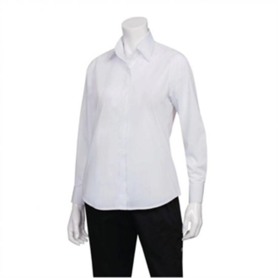 Uniform Works Womens Long Sleeve Dress Shirt White M URO B874-M