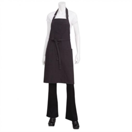 Chef Works Urban Rockford Canvas Bib Apron Steel Grey URO BB018