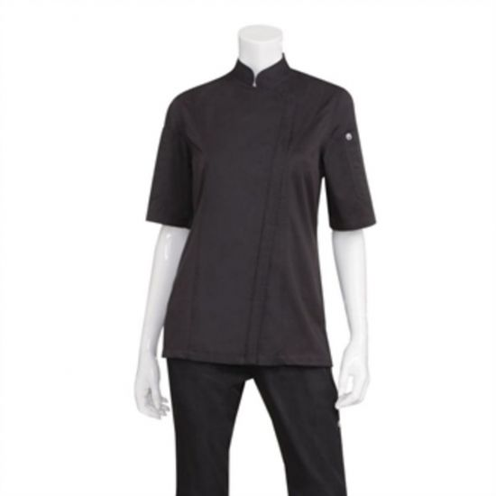 Chef Works Womens Springfield Zip Chefs Jacket Black XS URO BB051-XS