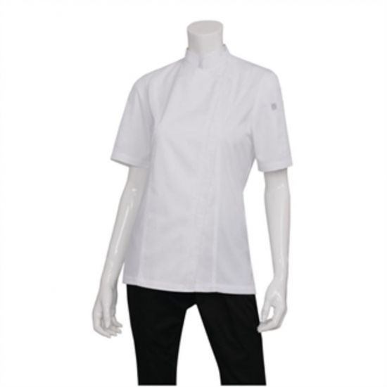 Chef Works Womens Springfield Zip Chefs Jacket White L URO BB052-L