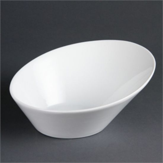 Olympia Whiteware Oval Sloping Bowls 254x 228mm Box of 3 URO CB078