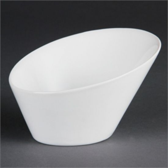 Olympia Whiteware Oval Sloping Bowls 150x 135mm Box of 4 URO CB079